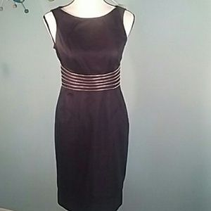 London Times 4 navy stretchy wiggle dress zippers